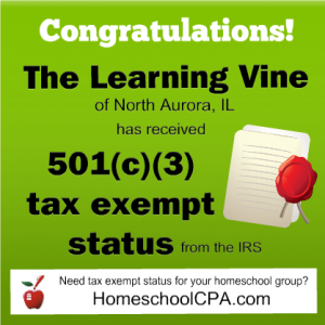 Tax exemption for homeschool group switched by the IRS